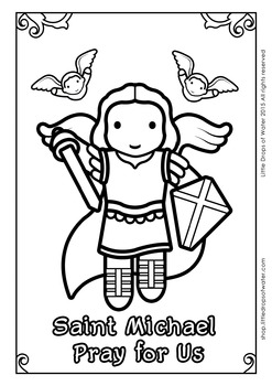 Saint Michael Coloring - Catholic