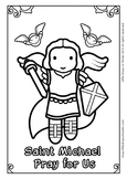 Saint Michael Coloring - Catholic