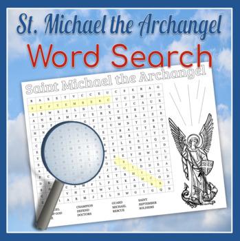 Saint Michael the Archangel Word Search