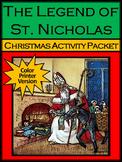 Saint Nicholas Day Activities: The Legend of St. Nicholas Activity Packet -Color