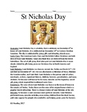 Saint Nicholas Day - lesson review facts information questions word search