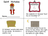 Saint Nicholas Mini Book, and Coloring Page