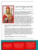 Saint Nicholas Saint of the Day Worksheet