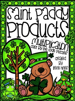 Saint Paddy Products ~ Multiplication Color By Code Puzzles For Spring