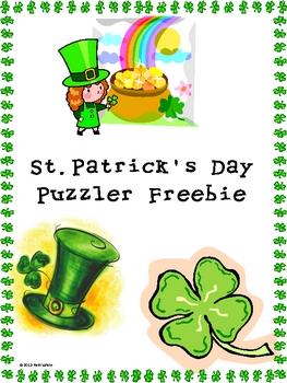 Saint Patick's Day Puzzler Freebie