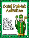 Saint Patrick Activities {Legend Sheet, Review Sheet, Book and Craft}