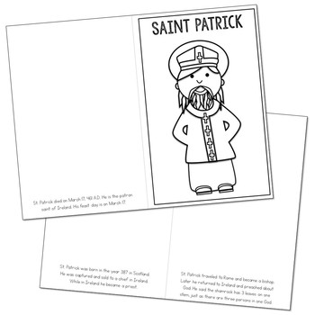 Saint Patrick Biography Mini Book in 3 Formats, Catholic Resource