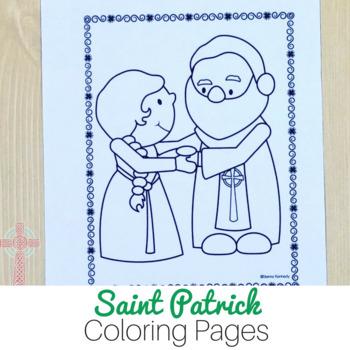 Saint Patrick Coloring Pages: No Prep Catholic Activities