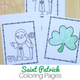 Catholic Saint Coloring Pages: No Prep Activities - St Patrick