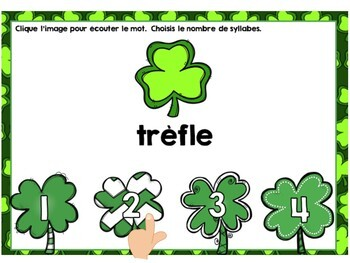 Saint Patrick: French Saint Patrick's Day Digital Task Cards BUNDLE - BOOM CARDS