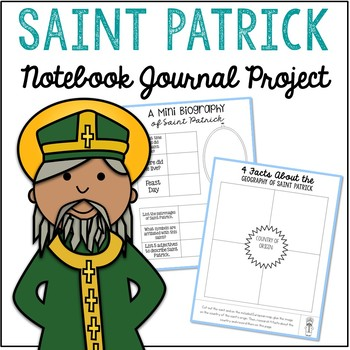 Saint Patrick Notebook Journal Project, Christian Resources, Catholic Schools
