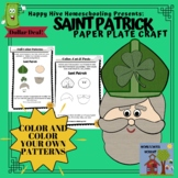 Saint Patrick Paper Plate Craft for St. Patrick's Day or S
