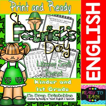 Saint Patrick - Print and Ready Set -  Literacy Small Packet