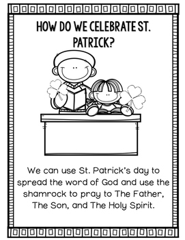Saint Patrick Religious Reading and Writing activities