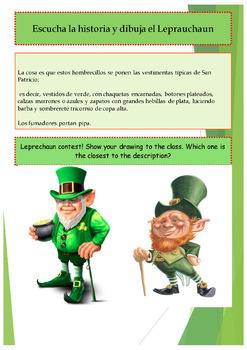 Spanish Saint Patrick, San Patricio booklet for beginners