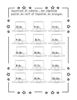Saint-Patrick: cahier de révisions de math