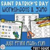 Saint Patrick's Day Math || 1st Grade Print and Go Packet