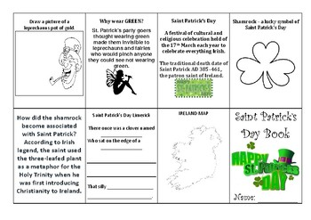 Saint Patrick's Day Minibook
