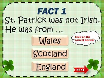 Saint Patrick's Day 5 amazing facts you didn't know game test PowerPoint