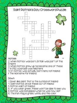 Saint Patrick's Day Activity Pack - 3rd & 4th grades - Common Core Aligned