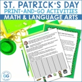 Saint Patrick's Day Activity Pack - 3rd & 4th grades - Com