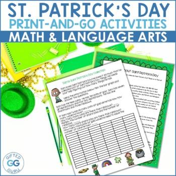Saint Patrick's Day Activity Pack - 3rd & 4th grades - Com