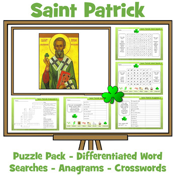 Saint Patrick's Day Activity Pack - Anagrams, Word Searches, Crosswords