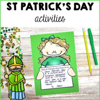 Saint Patrick's Day  Activity Pack Craft, Literacy Activities, Posters and Vocab