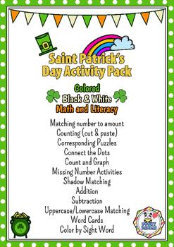Saint Patrick's Day Activity Pack - No prep