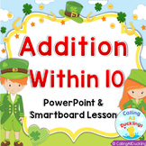 Saint Patrick Day Addition Powerpoint and Smartboard