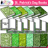 Saint Patrick's Day Book Clip Art | School Supplies for Classroom Resources