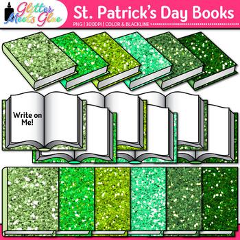 Saint Patrick's Day Book Clip Art: School Supply Graphics {Glitter Meets Glue}
