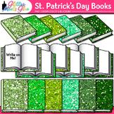 Saint Patrick's Day Book Clip Art {School Supplies for Cla