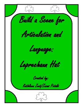 Saint Patrick's Day Build a Scene Leprechaun Hat for Speech and Language