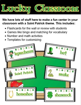 Saint Patrick's Day Classroom Center Activity Bundle