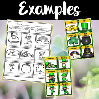 Saint Patrick's Day Center ~ Nouns and Verb Sorting