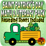 Saint Patrick's Day Centers Activities Recording Sheets St. Pat's Worksheets