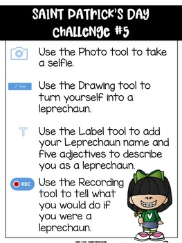 Saint Patrick's Day Challenges | For Use with Seesaw