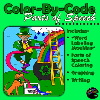 Saint Patrick's Day: Color-By-Code Parts of Speech; Graphing; Writing