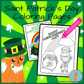 Saint Patrick's Day Coloring Printable Worksheets Ready to Print and Go!