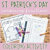 Saint Patrick's Day Comparing Fractions Coloring Activity