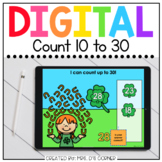 Saint Patrick's Day Counting 10 to 30 Digital Activity | D
