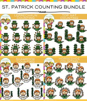Saint Patrick's Day Counting Clip Art Bundle