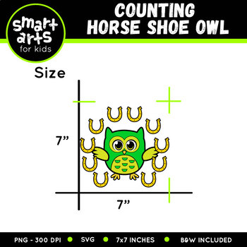 Saint Patrick's Day Counting Horseshoe Owl Clip Art