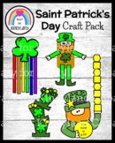 Saint Patrick's Day Craft Pack: Shamrock, Leprechaun Puppet, Name Craft, Hats