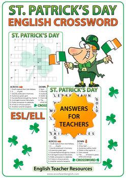 Saint Patrick's Day Crossword in English