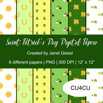 Saint Patrick's Day Digital Papers - CU4CU