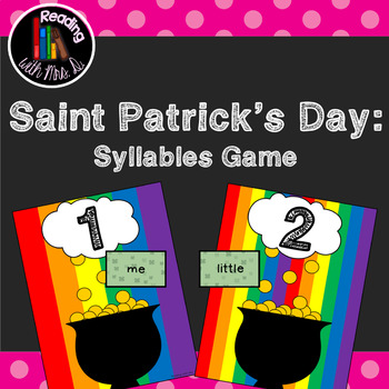 Saint Patrick's Day Dolch Syllable Sorting Match Game