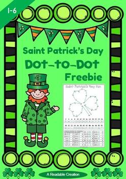 Saint Patrick's Day Dot-to-Dot Math Freebie