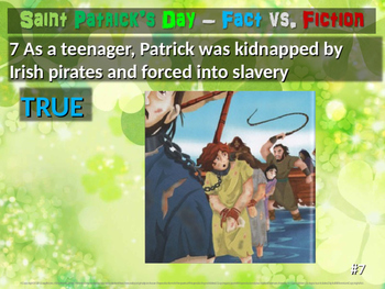 Saint Patrick's Day Fact vs. Fiction: 25-slide PowerPoint with handouts
